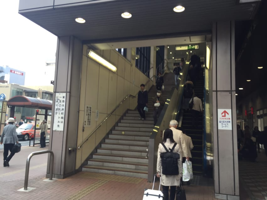 JR大井町駅上りエスカレーター