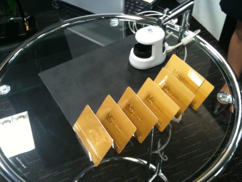 ゴールドのメンバーズカード