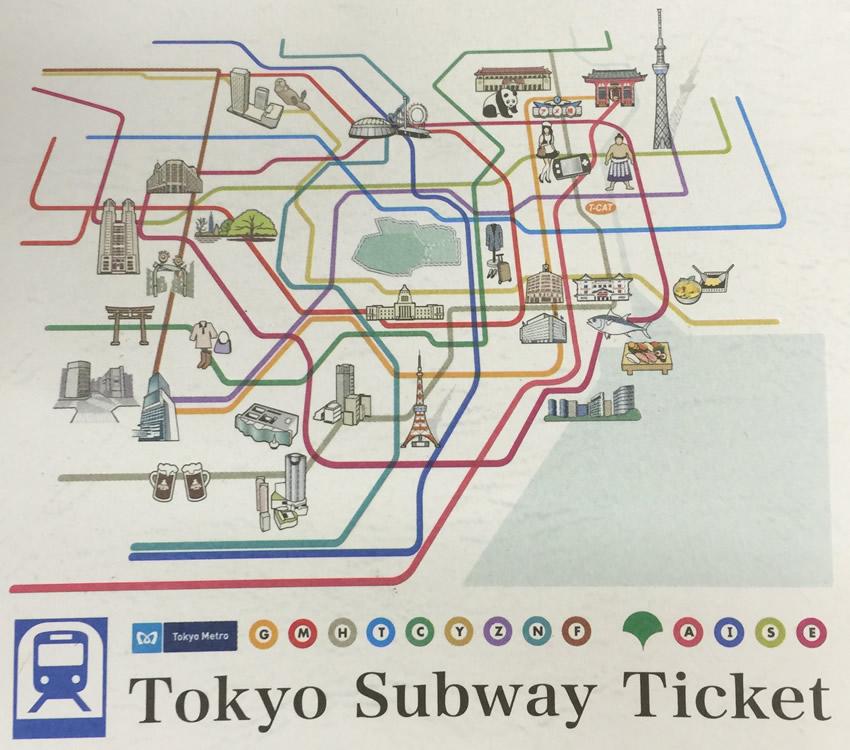 Tokyo Subway Ticket Area