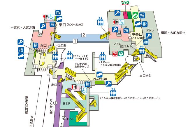 大井町駅構内図
